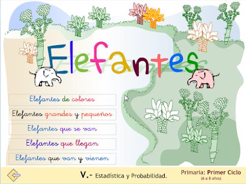 Elefantes. Estadística y RP. Macroaplicación.