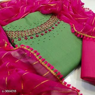 New Jiya Stylish Rubby Cotton Embroidery Suits & Dress Materials