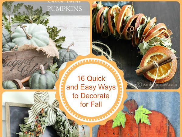 16 Quick and Easy Ways to Decorate for Fall and More Inspo