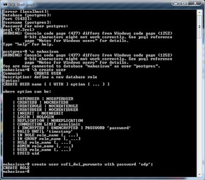 Kelas Informatika - Membuat User PostgreSQL