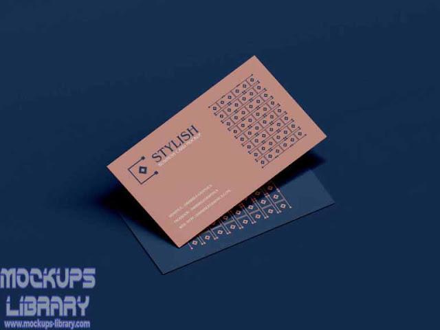 stylish business cards mockup