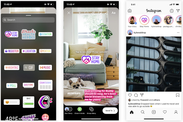Instagram Adds New Stickers to Encourage Social Distancing Among Corona Outbreak