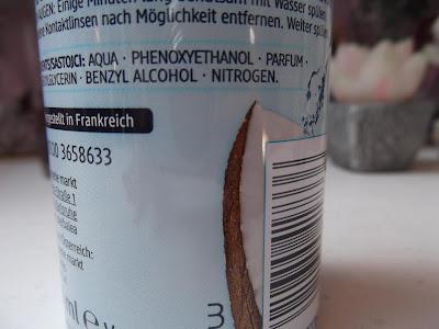 kokosový sprej na tvár zloženie