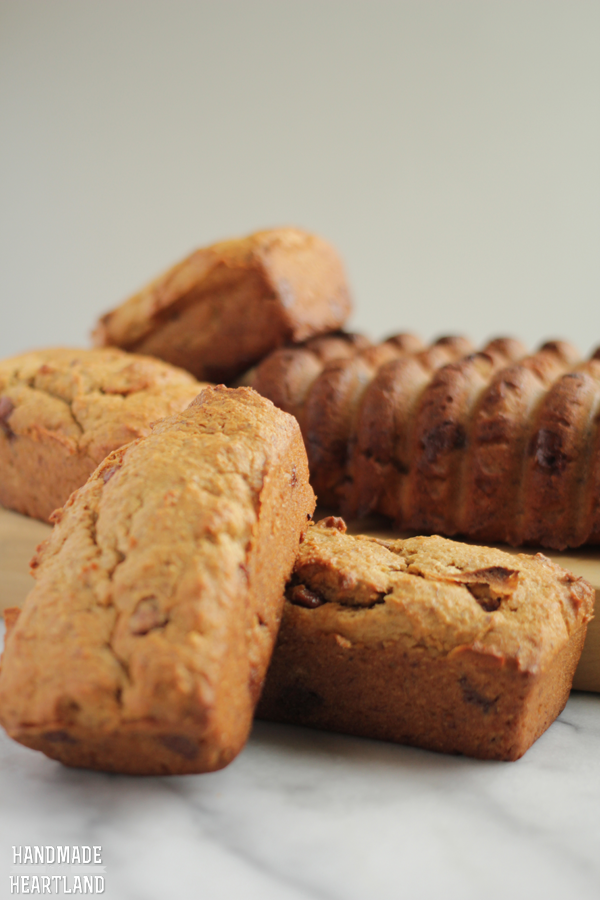 Hey, a recipe for peanut butter chocolate chip banana bread that is moist and delicious.