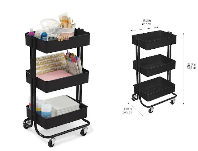 Cart for organizing crafts