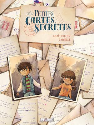 """couverture de """"Les Petites cartes Secrètes"""" de Anaïs Vachez et Cyrielle chez Delcourt"""