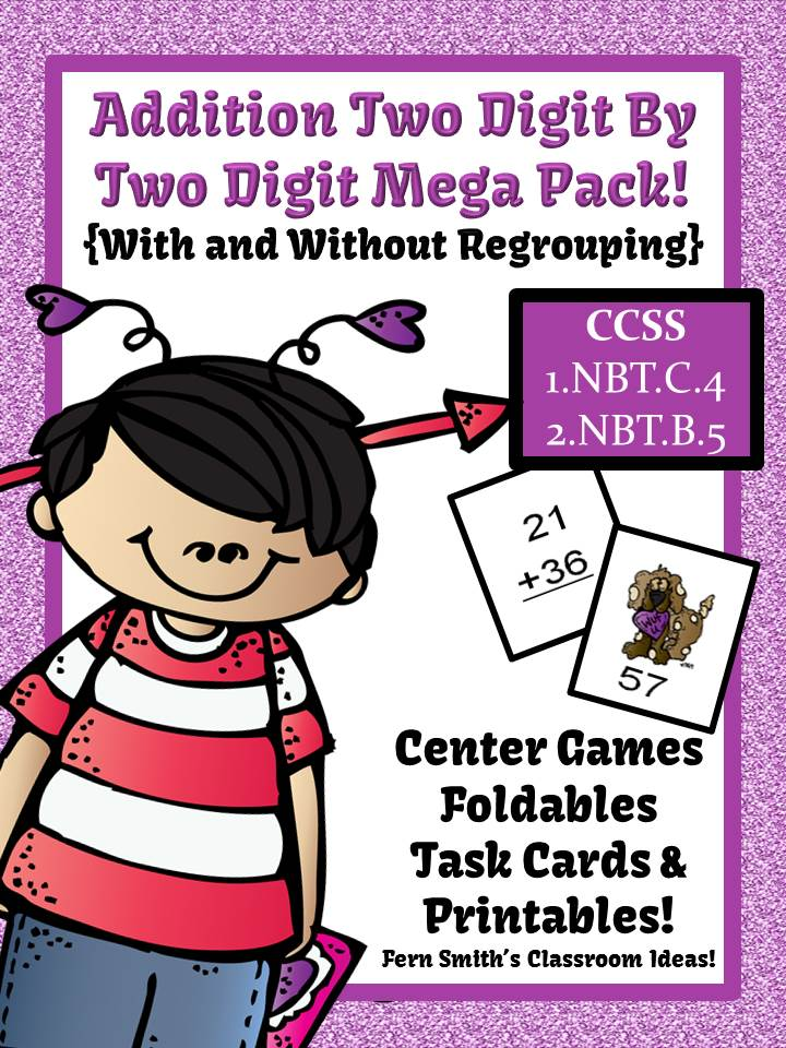 http://www.teacherspayteachers.com/Product/Valentines-Day-Two-Digit-By-Two-Digit-Addition-Mega-Math-Pack-1046891