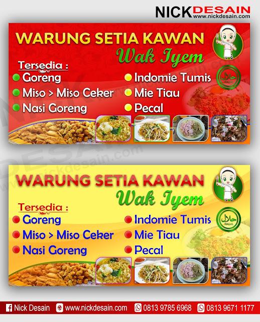 Contoh Desain banner Spanduk Cafe - Restoran | Percetakan Murah dan Desain Online Tanjungbalai