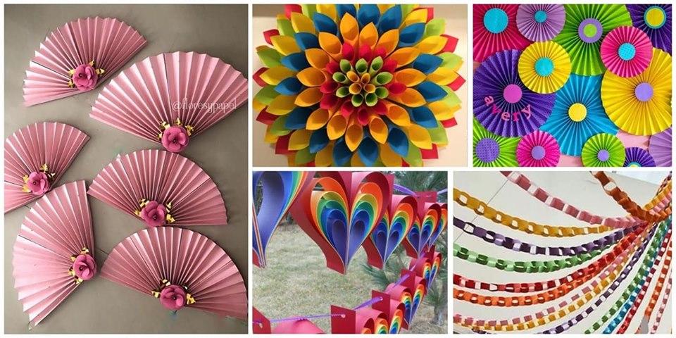 Crea Bellas Decoraciones De Fiesta Usando Papel Bond De Colores