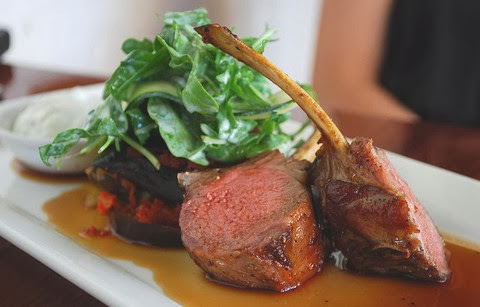 Smoked Lamb with Yoghurt and Peppery Sauce