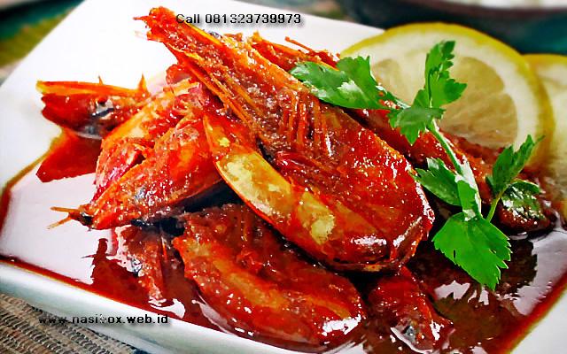 Resep udang semur pedas-nasi box kawah putih ciwidey
