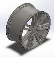 Design of Wheel Rim using Solidworks
