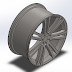 Design of Wheel Rim using SOLIDWORKS | Aston Martin One - 77