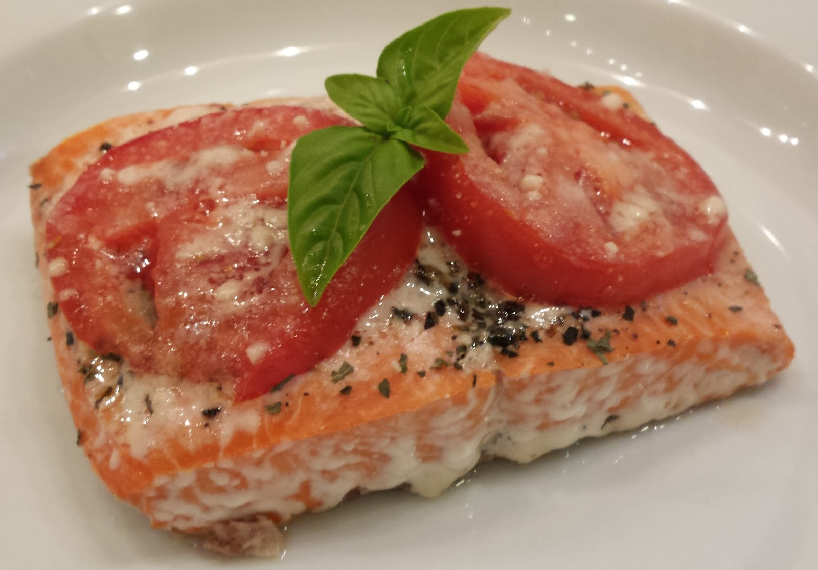 Image result for Tomato Basil Salmon