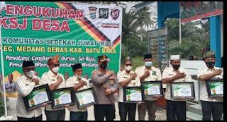 Kapolres Batu Bara Kukuhkan KSJ Desa Se Kecamatan Medang Deras