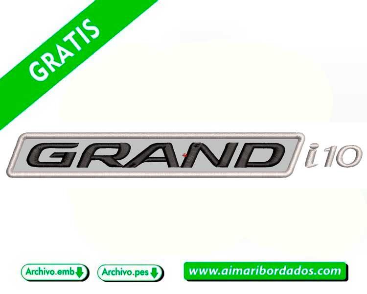 Logo del Hyundai Grand i10 para bordar a máquina DESCARGA GRATIS