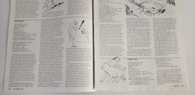 pages from the Creature Catalog