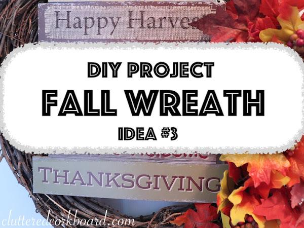 DIY Fall Wreath Traditional Colors | Mini Series Wreath Idea #3