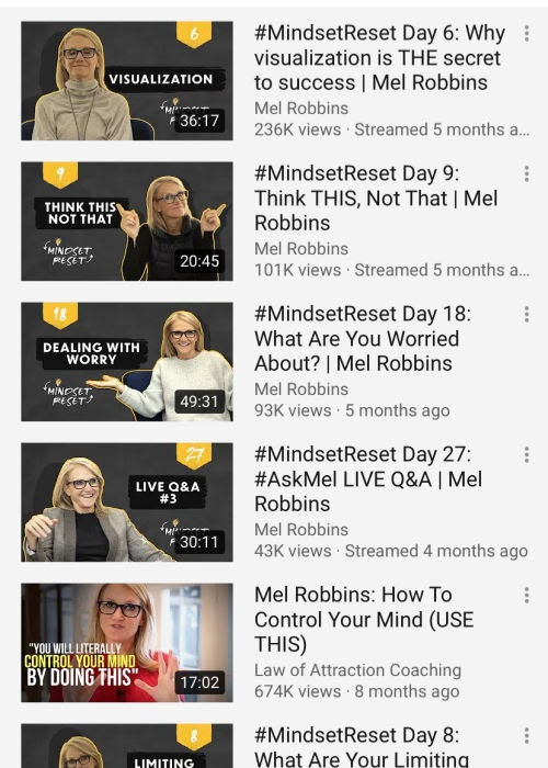 How to have a better mindset - learn about our thinking with Mel Robbins