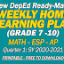 New Ready-Made WEEKLY HOME LEARNING PLANS (GRADE 7-10) Quarter 1