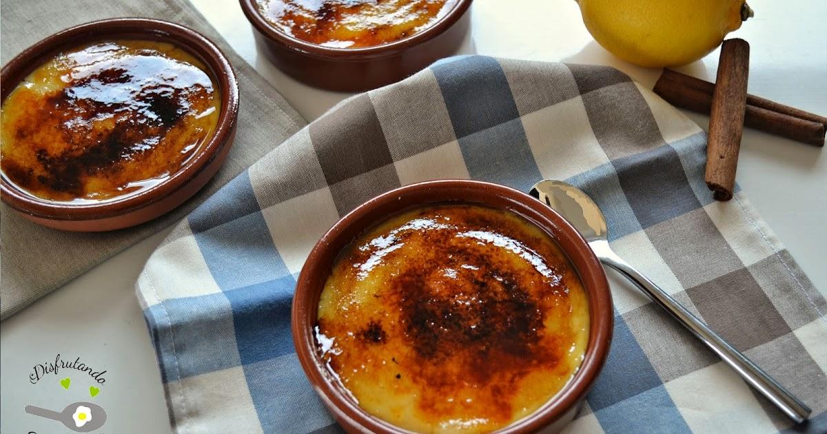 disfrutando de la cocina crema catalana casera