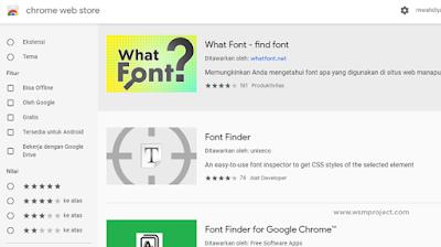 Menggunakan Extension Google Chrome
