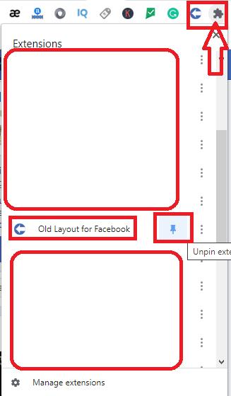 تحويل الفيسبوك الي الشكل والإصدار القديم