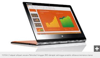 Lenovo YOGA 3 Yang Praktis Untuk Produktifitas