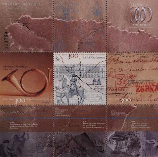 300 AÑOS DE CORREOS EN ESPAÑA PRIMERA CENTURIA 1716-1816