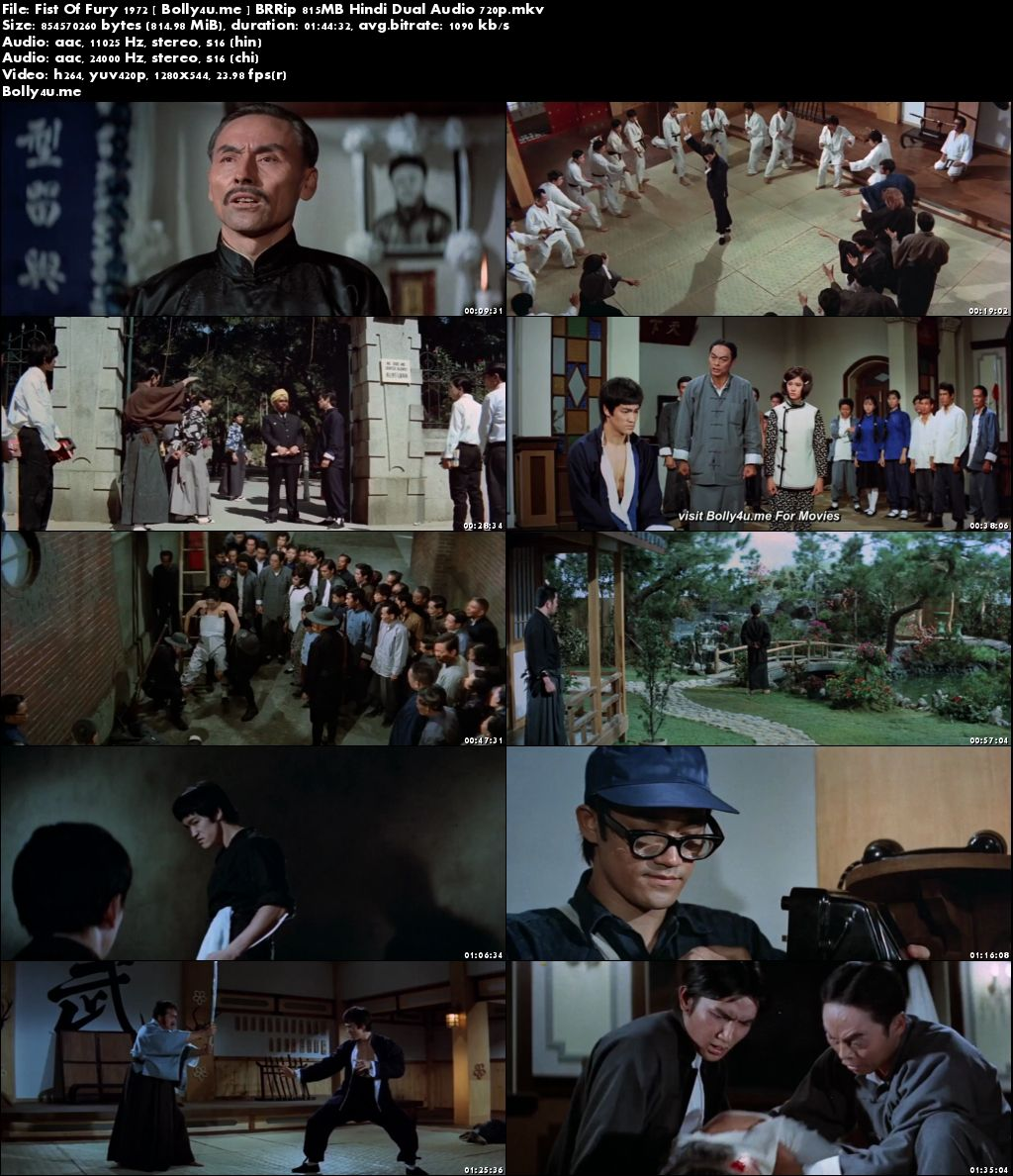 Fist Of Fury 1972 BRRip 350MB Hindi Dual Audio 480p Download