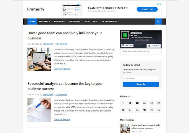 Frameify Blogger Template, Blogger Templates, Blogger Theme, Templates, Frameify Responsive blogger Theme, Simple blogspot Theme, Ad Friendly