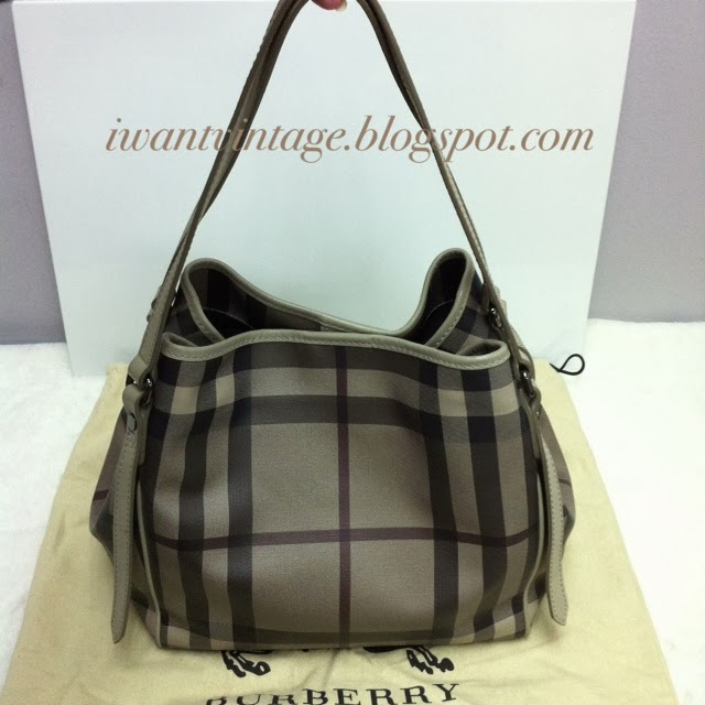 ad5ab301ce0c Burberry Smoked Check Canterbury Tote-Trench. Burberry Smoked Check  Canterbury Tote-Trench Coated canvas tote bag ...