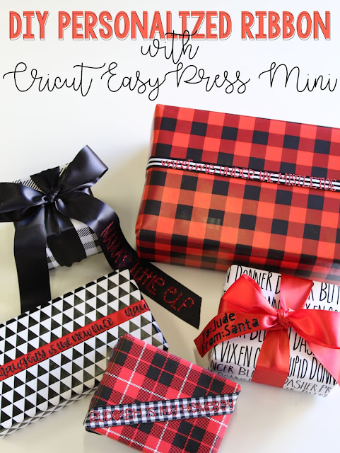 Create your own Personalized ribbon with Cricut's NEW EasyPress Mini!