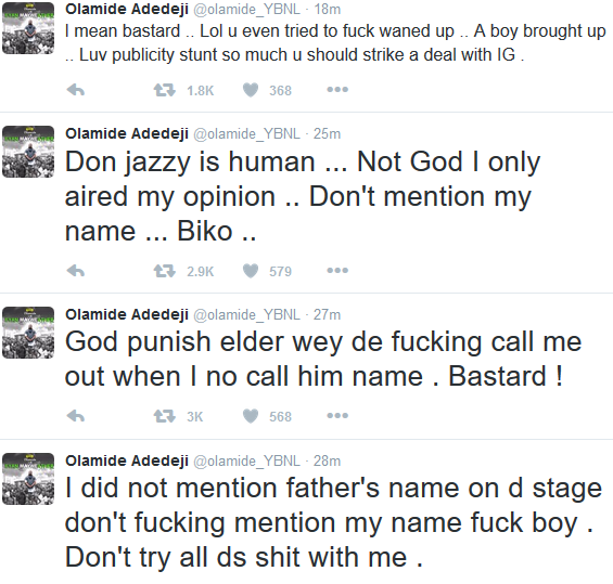 Don Jazzy and Olamide Clash