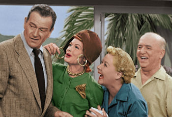 """I Love Lucy"" with John Wayne"