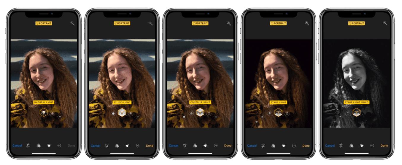 iPhone X Portrait Selfies Modes