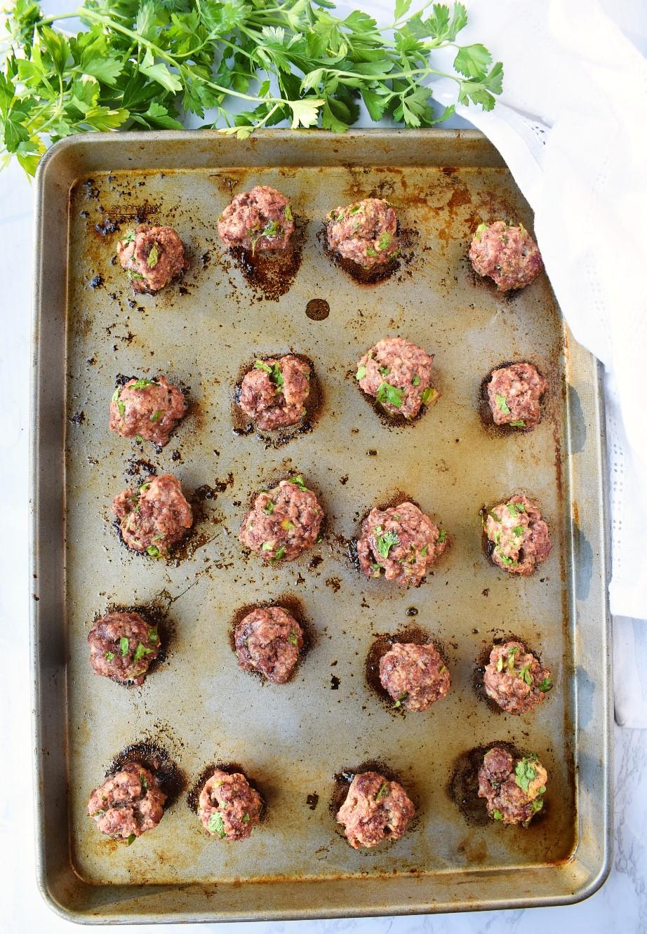 Tray of Greek Meatballs