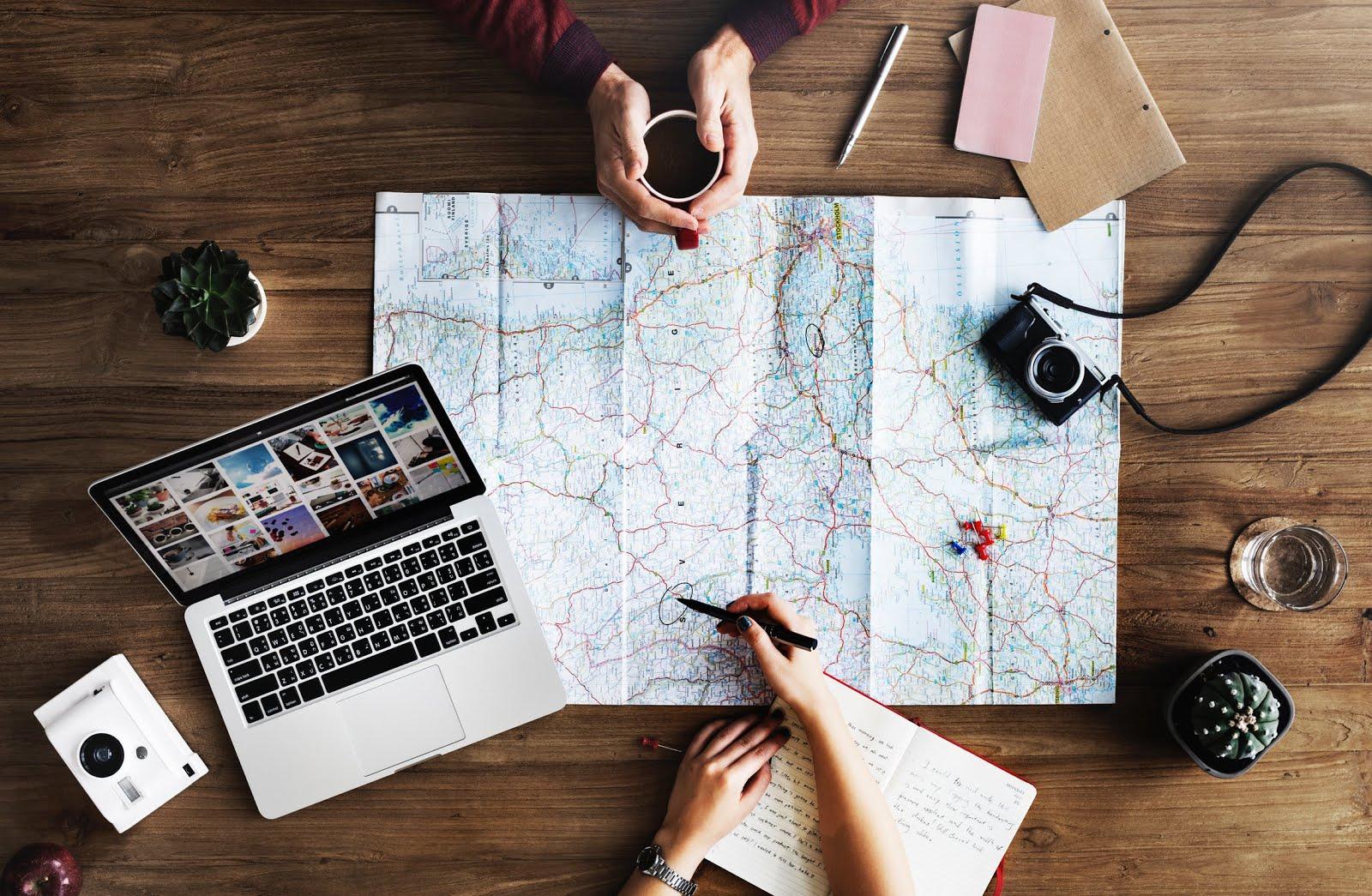 travel planning maps trip wanderlust