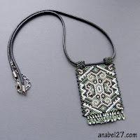 купить кулон украшение из бисера в этническом стиле украина anabel