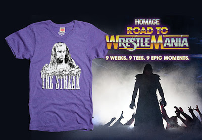 "Road to WrestleMania Week 6 ""The Undertaker WrestleMania Streak"" T-Shirt by Homage x WWE"