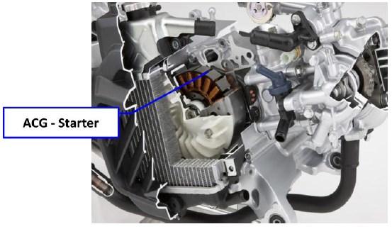 Acg Starter Sepeda Motor