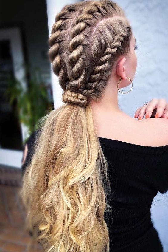 Sencillo y bonito peinados modernos Galería de cortes de pelo tutoriales - La moda en tu cabello: Modernos Peinados con trenzas 2020