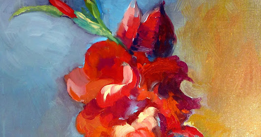 """Liquid Gladiolas"" by C. Twomey At Auction"