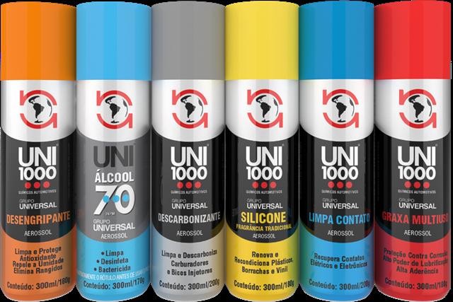 Grupo Universal Automotive Systems anuncia a UNI1000® com seis produtos na linha de químicos