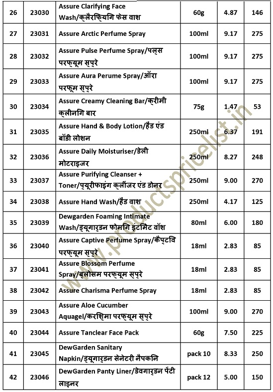 Vestige Products list distributor