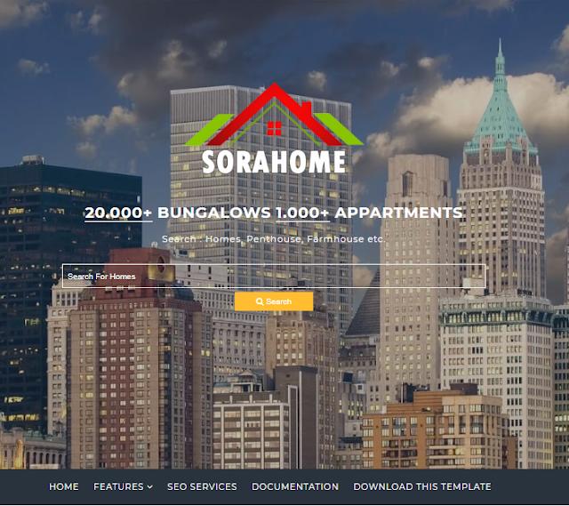 simple blogger templates 2021 sora home