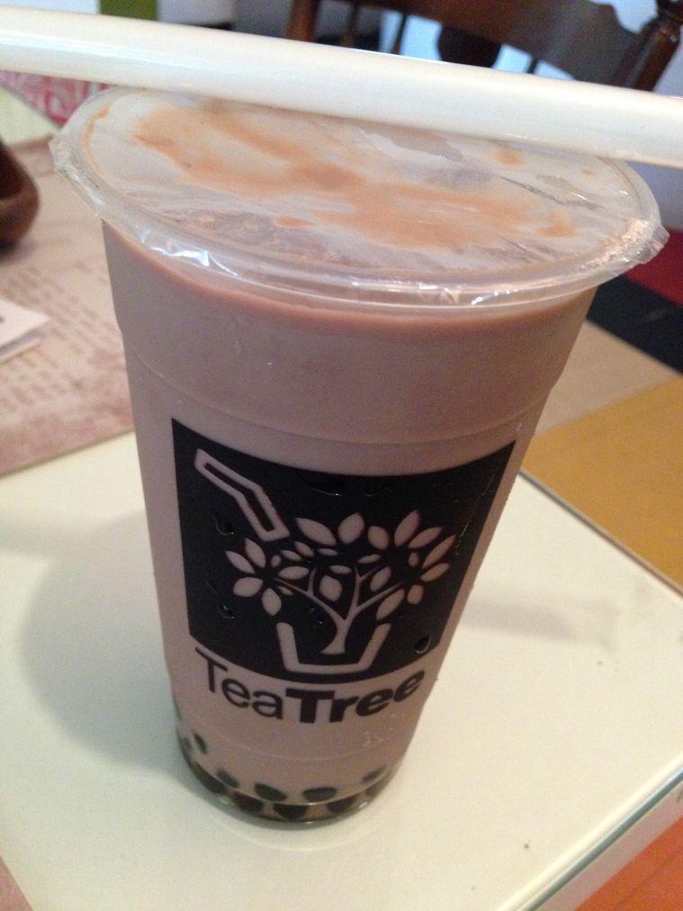 A cup of winter melon milk tea at Tea Tree Café
