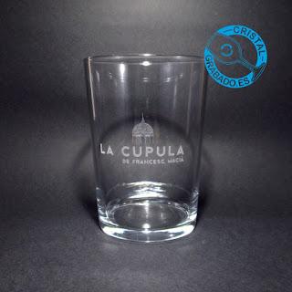 """Vaso de sidra personalizado con logotipo del espacio de eventos y reuniones """"LA CÚPULA DE FRANCESC MACIÀ"""""""