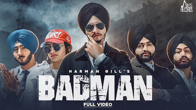 Badman Song Lyrics | Harman Gill | Gill Raunta | New Punjabi Songs 2020 | Jass Records Lyrics Planet