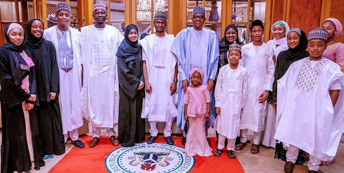 Buhari Observed Eid-Kabir Prayers At Home With Family And Aides (photos)